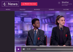 Haverstock school students on channel 4 news