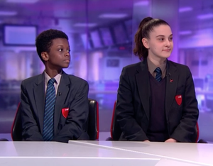 Haverstock school students on channel 4 news 2