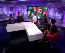 Haverstock school students on channel 4 news 4