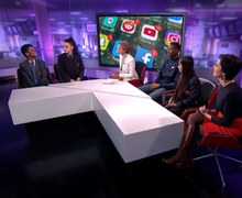 Haverstock school students on channel 4 news 5