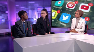 Haverstock school students on channel 4 news 6