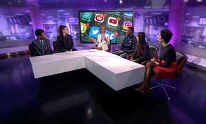 Haverstock school students on channel 4 news 7
