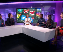 Haverstock school students on channel 4 news 8