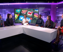 Haverstock school students on channel 4 news 9