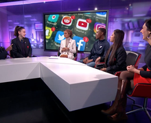 Haverstock school students on channel 4 news 10