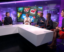 Haverstock school students on channel 4 news 11