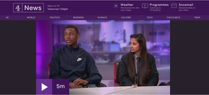 Haverstock school students on channel 4 news 12