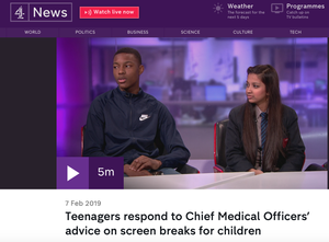 Haverstock school students on channel 4 news 13