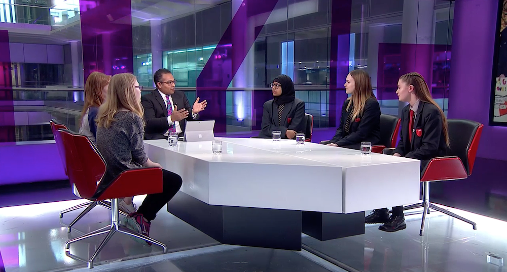 Haverstock Students Appear on Channel 4 News to discuss Student Climate Strike