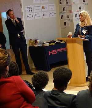 Students perform at haverstock school launch of 100k music fund