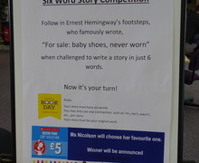 Haverstock school camden world book day 2019 6 word story competition