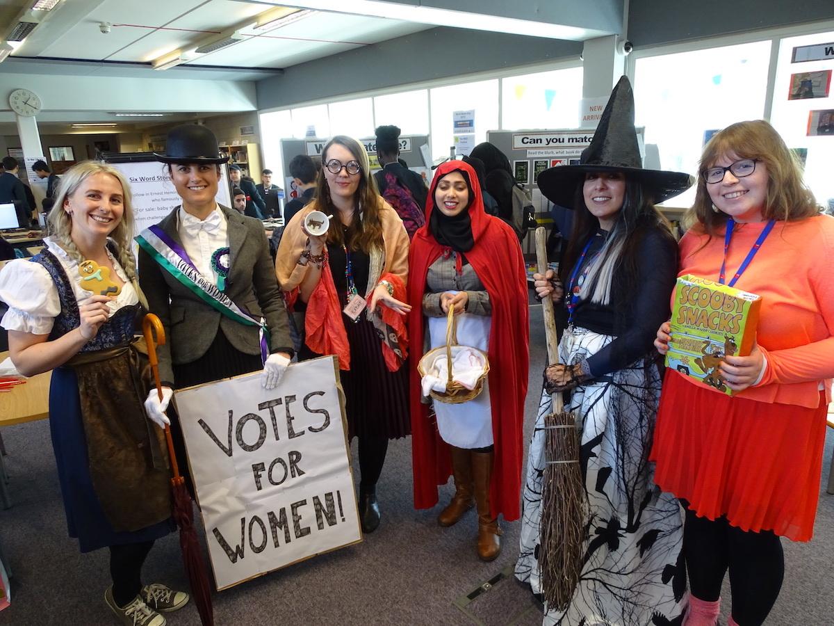 Haverstock School Camden, World Book Day 2019: Staff in costume