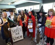 Haverstock school camden world book day 2019 staff in costume