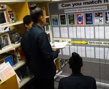 Haverstock school camden world book day 2019 students doing quiz