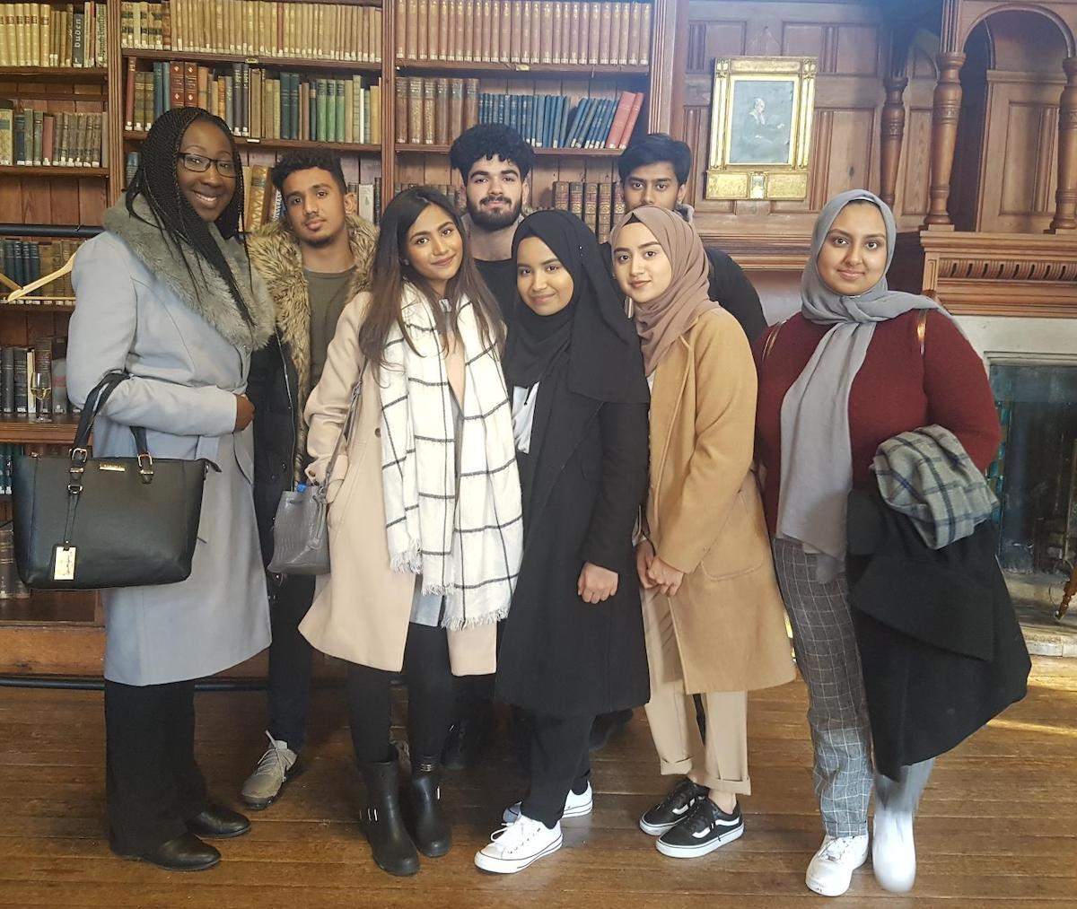 Haverstock School Sixth Form Students Visit Girton College, Cambridge study room