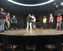Haverstock students on stage at almeida