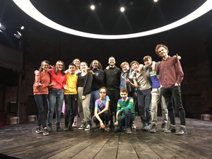 Well done haverstock school students performing on stage at almeida theatre