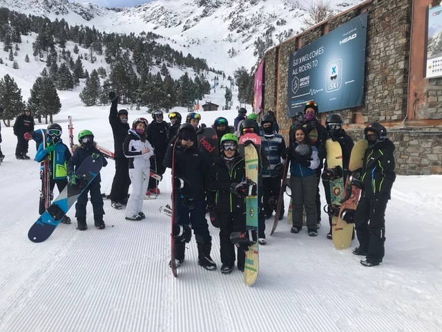 Haverstock school camden students ski trip to andorra easter 2019