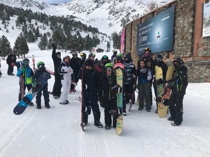HS News - 16 Students from Haverstock School Camden Hit The Slopes On Our Andorra Ski and Snowboard Trip, April 2019.