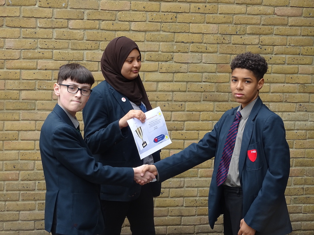Haverstock school camden youth travel ambassadors and walk a thon winner may 2019