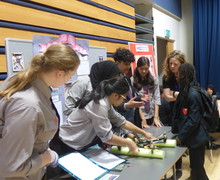 Haverstock school camden science fair presenting the amphibious drone