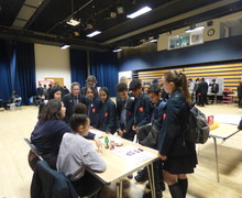 Haverstock school camden science fair eager visitors ask questions