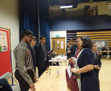 Haverstock school camden science fair explaining a project