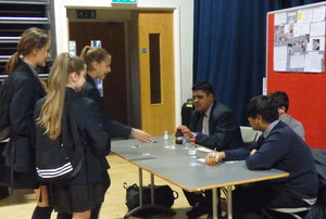 Haverstock school camden science fair students ask questions about a project