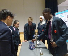 Haverstock school camden science fair students demonstrate their project