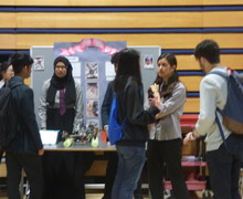 Haverstock school camden science fair with visitors