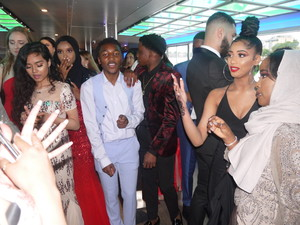 Haverstock school camden year 11 enjoy a riverboat cruise for their prom 2019