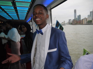 Haverstock school camden year 11 students enjoy a riverboat cruise for their prom 2019jpg