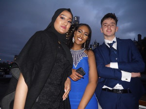 Haverstock school camden year 11 students on a boat for prom night 2019jpg