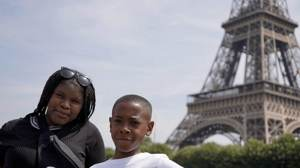 Haverstock school camden music students trip to paris july 2019 at the eiffel tower 2