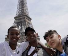 Haverstock school camden music students trip to paris july 2019 at the eiffel tower 4