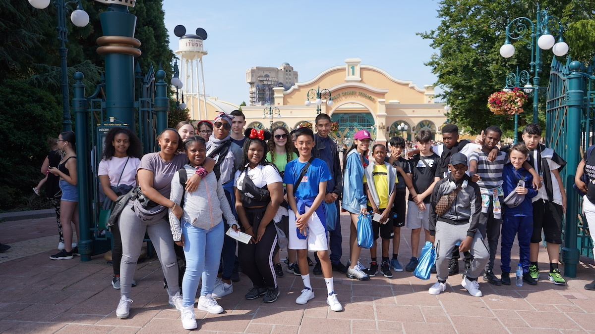 Haverstock school camden music students trip to paris july 2019 students at the gates of disneyland paris