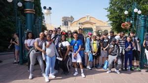 Haverstock school camden music students trip to paris july 2019 students at the gates of disneyland paris