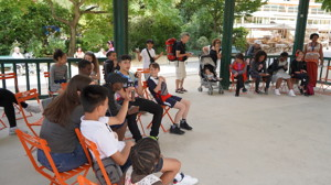 Haverstock school camden music students trip to paris july 2019 students get ready to perform 2