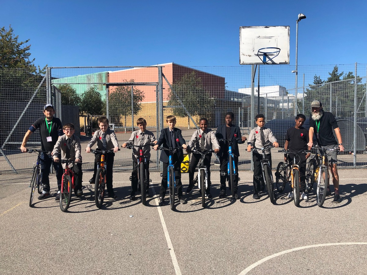 Haverstock School Camden London students take part in cycle training