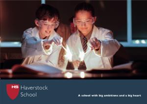Haverstock School Prospectus Front Cover 2019