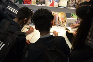 Haverstock school camden students attend arts exhibitions as part of the bronze arts award qualification