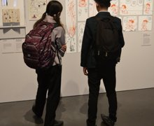 Haverstock school camden students visit the manga exhibition as part of their bronze arts award qualification