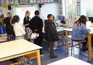 Haverstock secondary school camden open evening for year 7 admissions in the art rooms