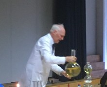 Haverstock school camden london students enjoy the magic of chemistry in a show by dr szydlo