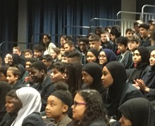 Haverstock school camden london year 9 students enjoy the magic of chemistry in a show by dr szydlo 31 october 2019