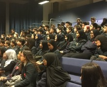 Haverstock school camden london year 9 students enjoy the magic of chemistry in a show by dr szydlo oct 2019