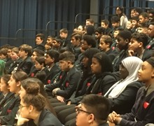 Haverstock school camden london year 9 students enjoy the magic of chemistry in a show by dr szydlo october 2019