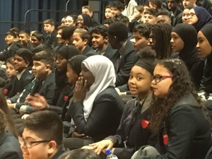 Haverstock school camden london year 9 students enjoying the magic of chemistry in a show by dr szydlo