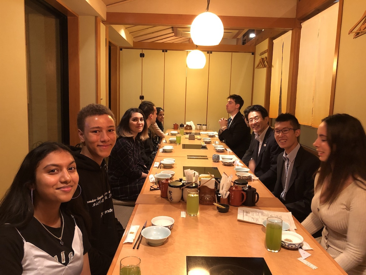 Haverstock sixth form camden london sixth form students explore local cuisine on visit to japan october 2019
