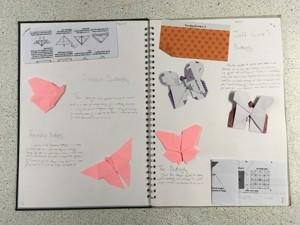 Mirain brown origami butterflies 2